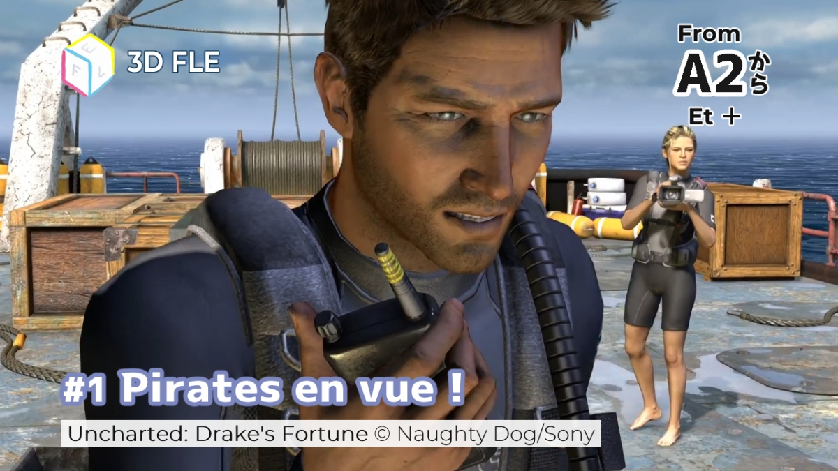 Listening Exercises With Uncharted: Drake's Fortune  #1 Pirates en vue !